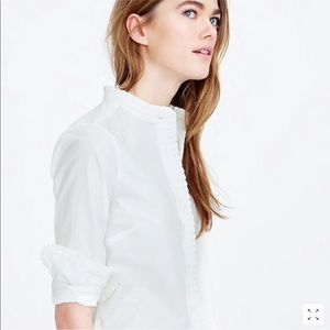 J Crew Ruffled Button Up Shirt
